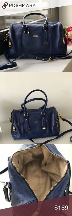 e15b563eb0f Badgley Mischka Blue Satchel Handbag Beautiful Cobalt Blue soft leather  satchel. Near perfect condition inside. Poshmark