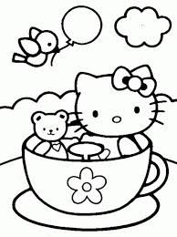 September 9 Is Teddy Bear Day Hello Kitty Coloring Pages