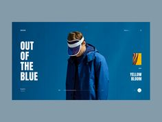 Moodboard Series 2 - Out of the Blue landing composition mood moodboard typography blue web layout concept minimal ui Website Design Layout, Web Layout, Layout Design, Graphic Design Print, Graphic Design Typography, Ui Design Inspiration, Typography Inspiration, Event Poster Design, Photoshop