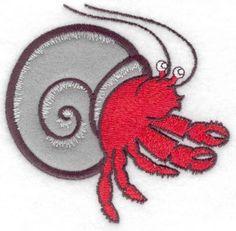 Hermit crab applique small | Applique Machine Embroidery Design or Pattern