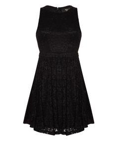 Look what I found on #zulily! Black Lace Cutout Sleeveless Dress #zulilyfinds