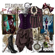 """""""Steampunk: Dr. Facilier"""" by ghsdrummajor on Polyvore"""
