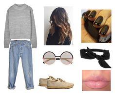 """Boyfriend jeans"" by aaannaaa44 ❤ liked on Polyvore"