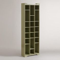 So much storage in a small space! 2 feet wide, 1 foot deep and almost 7 feet tall. Some shelves are adjustable. Good not just for shoes but linens in a bathroom, toys and stuffed animals in a kids room, CDs/DVDs... lots of options.    Bradshaw Shoe Storage Cabinet - World Market $249.99