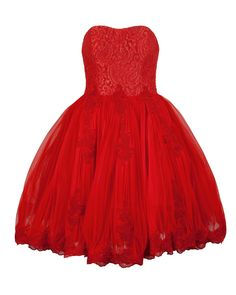 Just like a Princess in Red.  Raul Lace Ball Dress by Ted Baker    #tedbaker #red #dress #lace #princess