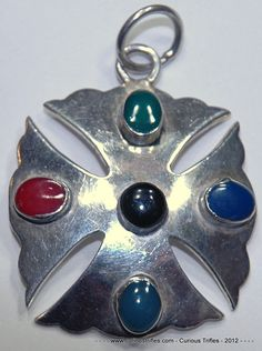Taxco Sterling Silver Iron Cross Pendant with by curioustrifles, $45.00