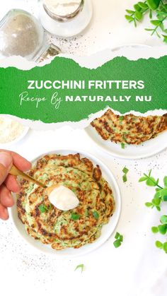 Tired of pancakes and waffles for brunch? I don't tire of them either but here's a delicious gluten-free plant-based version of zucchini fritters. I won't tell anyone you ate vegetables for breakfast. Gluten Free Recipes For Breakfast, Gluten Free Breakfasts, A Food, Good Food, Zucchini Fritters, Cooking Together, Pancakes And Waffles, Eat Breakfast, Food Processor Recipes