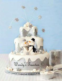 "Winter wedding cake from my book ""happy cake days""."