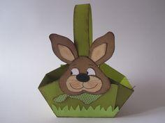 Ein #Osterhasen Osterkörbchen aus Papier #basteln - Bastel Lilli