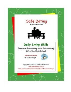"""""""Safe Dating"""" is part of Susan Traugh's """"Daily Living Skills"""" series offering… Coping Skills, Life Skills, Life Lessons, Autism Teens, Life After High School, Social Skills Autism, Special Needs Students, Work Activities, Social Work"""