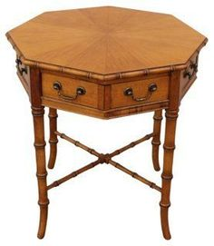 Faux Bamboo Accent Table