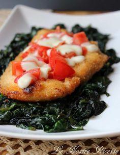 Le nostre Ricette: Cotoletta di pollo con spinaci, pomodorini e mozzarella