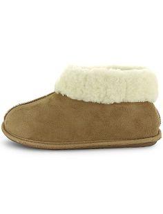 Pantofole a stivaletto foderate di pelliccia                             cammello Donna