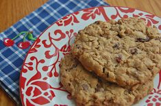 cherry pecan oatmeal chocolate chip cookies from cook's illustrated