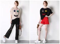 women summer topscute patternpleated by HerselfStudios on Etsy