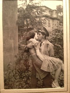 "Caption: ""My favorite picture of my grandparents. My grandfather had just got back from war."""
