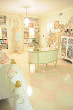 This is the most amazing sewing room I've ever seen--certainly the most beautiful! Check it out....