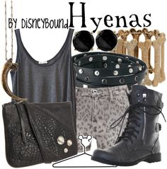 """Disneybound """"Hyenas"""" by lalakay Disney Themed Outfits, Disney Bound Outfits, Disneyland Outfits, Princess Outfits, Vacation Outfits, Disney Inspired Fashion, Disney Fashion, King Fashion, Women's Fashion"""