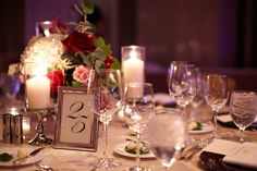 Table numbers and centerpieces  / Wrap It Up Parties / Chicago Wedding / Chicago Wedding Planner / Partial Wedding Planning / Day of Wedding Planner / Winter Wedding
