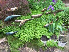 Stainless Steel Fish Sculpture for garden landscape welded