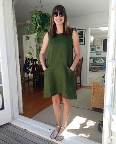 """450 Likes, 25 Comments - Bella (@bella_zilber) on Instagram: """"Here's my beautiful sister wearing the Farrow dress I made for her!  #grainlinestudio…"""""""