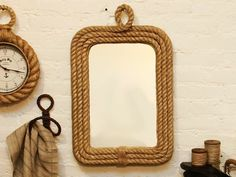 Rope Trim Wall Mirror