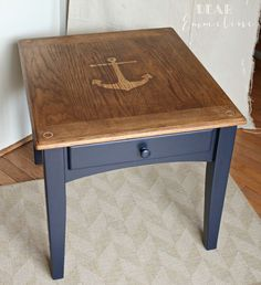 The 36th AVENUE | Nautical Home Decor | The 36th AVENUE Can try this with an old end table! - http://www.homedecoratings.net/the-36th-avenue-nautical-home-decor-the-36th-avenue-can-try-this-with-an-old-end-table