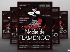 Flamenco Flyer Template V7 by Lionel Laboureur