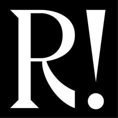 R!, typography, black, white, graphic, bold