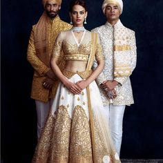 Find the most loved fashion labels for groom wear you must check out before your wedding. Famous fashion designers for groom wear in Indian Bridal Lehenga, Indian Bridal Fashion, Indian Bridal Wear, Indian Wedding Outfits, Indian Wear, Indian Outfits, Indian Clothes, Wedding Attire, Saris