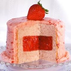 Disgusting looking cake, but great filling. Strawberry Filling - True fruit, not preserves, makes the difference in our luscious Strawberry Filling. Cake Filling Recipes, Frosting Recipes, Cake Recipes, Dessert Recipes, Cake Flavors, Food Cakes, Cupcake Cakes, Cupcake Fillings, Sweets