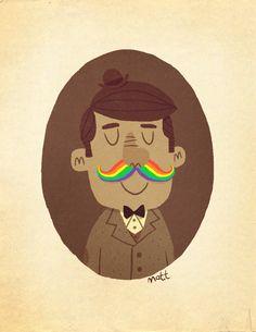 rainbow mustacho