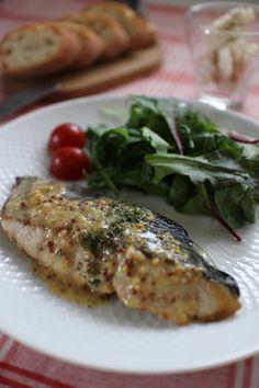 さわら(白身魚)のレモンマスタードソース