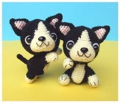 Etsy の French Bulldog Puppy PDF Crochet Pattern by jaravee