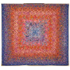 """""""Ten Years and Done"""" by Marcia Kaylakie. Blooming nine patch quilt.  Austin Area Quilt Guild 2014 show."""
