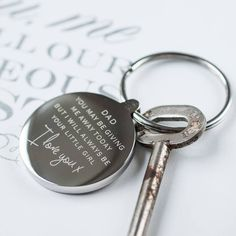 'giving me away' wedding keyring by oh so cherished | notonthehighstreet.com