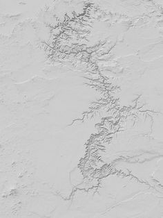 Dan Holdsworth's art is rendered from digital terrain models made by the US Geological Survey. They show America's most famous natural landscapes (the Grand Canyon, the Great Salt Lake, etc) without all the, well, nature.