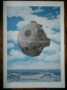 Giclèe print signed limited ed. Star wars inspired. Fine art print of my original painting, Magritte's parody on Etsy, $60.00