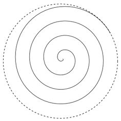 Rose Spiral---written directions on post