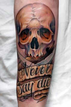 25 Forearm skull tattoo designs - Skullspiration.com - skull designs, art, fashion and more