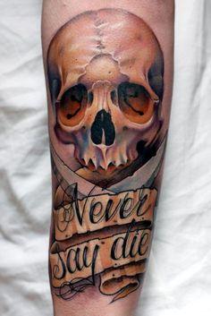 25 Forearm skull tattoo designs - Skullspiration.com - skull designs, art, fashion and more