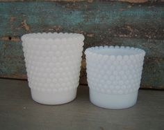 Milk Glass Hobnail Votive Cups Candle by turquoiserollerset, $6.00