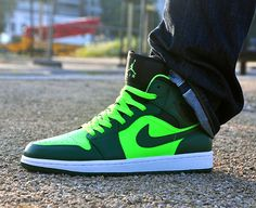 Air Jordan 1 Mid 'Electric Green'. Sadly I'm a sucker for a good high top.
