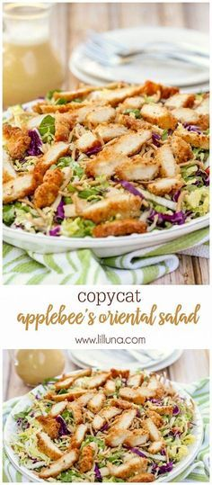 Copycat version of Applebee's Oriental Chicken Salad - one of the best salad…