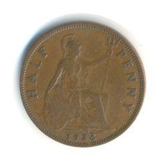 Vintage Coin George V Half Penny 1936 from JMCVintagecards on Etsy Postage Rates, Postcards For Sale, Coins For Sale, Coding, Personalized Items, Etsy, Vintage, Vintage Comics, Programming