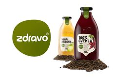 """Peter Gregson, Serbia.  Redesign of 100% natural juices and other organic/bio products from the Serbian company ZdravoOrganic, which manufactures healthy organic food products, included creating the new label and the new shape of glass containers. The very name of the product, """"ZDRAVO"""", has ambiguous meaning in Serbian language – it means both HELLO and HEALTHY, which in a way introduces the redesign and communicates the HEALTH platform of their organic/ natural / healthy food products."""