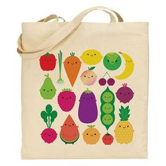 with my fruit and vegetable characters