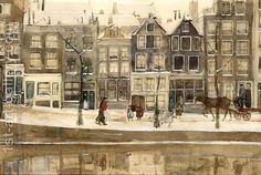 George Hendrik Breitner:A View Of The Lauriergracht, Amsterdam, In Winter