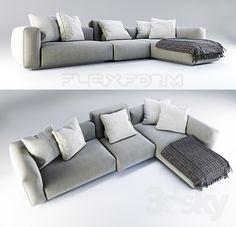 sofa garnitur sherry sofalandschaft von w schillig als u form in verschiedenen ansichten. Black Bedroom Furniture Sets. Home Design Ideas