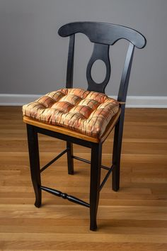 Silk Plaid Spice diningchair pads are made in agorgeous dupioni silk plaid in autumn shades with metallic gold accents. Made in USA with domestic or imported fabric Latex foam fill for premium comfort, lasts longer than other foams and won't go flat (unlike polyester fiber fill) Lock-stitched seams & triple-stitc Dining Chair Pads, Dining Chairs, Fabric Swatches, Dog Food Recipes, Latex, Spices, Cushions, Plaid, Metallic Gold